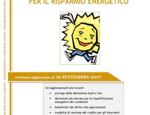 Le agevolazioni in ambito energetico